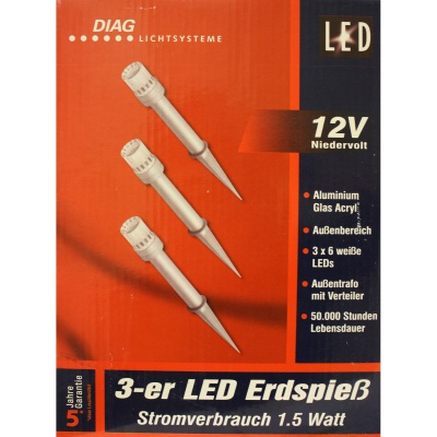 Outdoor LED-Licht 3x6LED /...